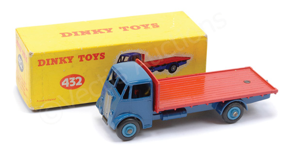 Dinky No.432 Guy Flat Truck - blue cab