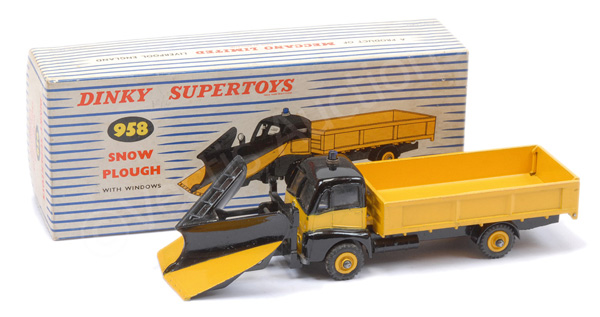 Dinky No.958 Guy Warrior Snow Plough - black