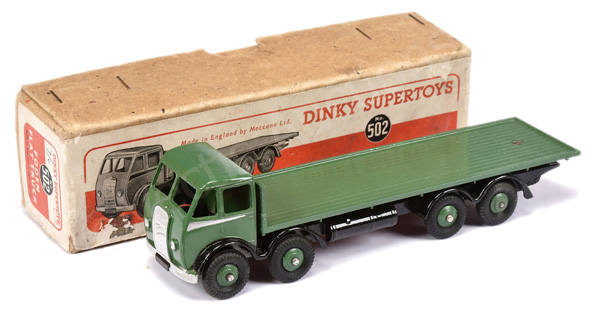 Dinky No.502 Foden (1st type) Flat Truck - green