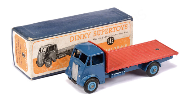 Dinky No.512 Guy Flat Truck - blue cab