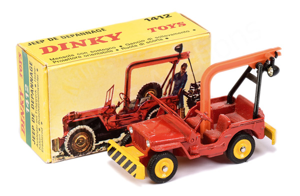 French Dinky No.1412 Jeep De Depannage - red