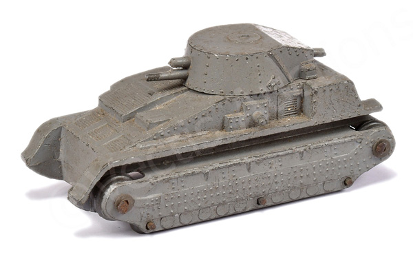 Dinky 22 Series Tank - finished in grey, metal