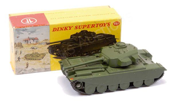 Dinky No.651 Military Centurion Tank - green