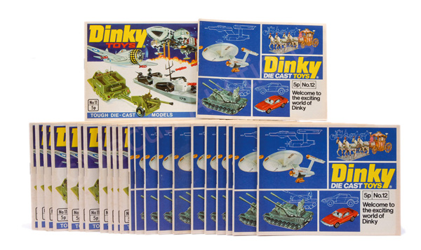 GRP inc Dinky No.11 Colour Catalogue and No.12