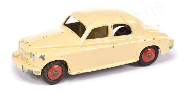 Dinky Rover 75 - cream body, red ridged hubs