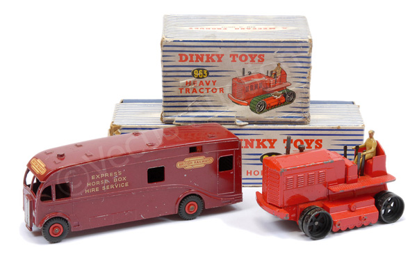 PAIR inc Dinky No.963 Heavy Tractor - red, black