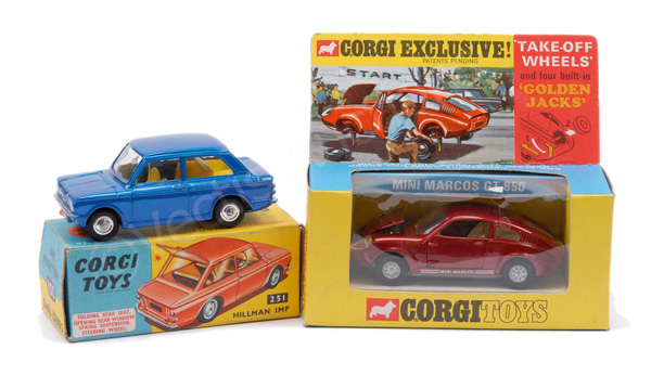 PAIR inc Corgi No.251 Hillman Imp - blue body