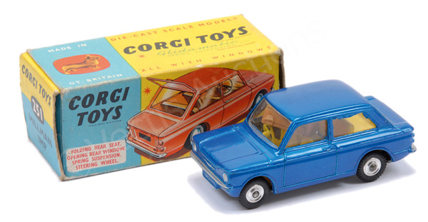 Corgi No.251 Hillman Imp - metallic blue, yellow