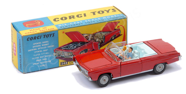 Corgi No.246 Chrysler Imperial - red body, pale
