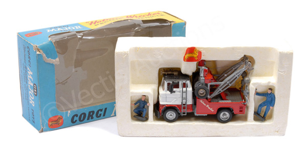 Corgi No.1142 Ford Holmes Wrecker - white, red