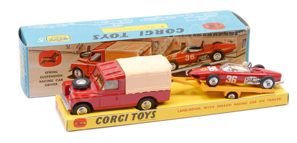 Corgi No.GS17 Gift Set Land Rover - red, cream