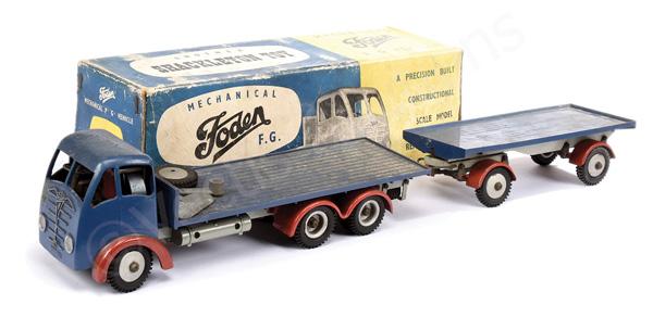 Shackleton Toys Foden FG Flat Truck - blue, red