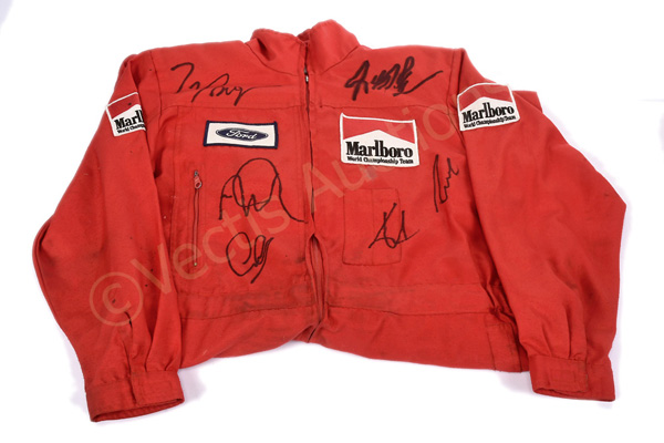 Ferrari Pit Stop Overalls which was signed