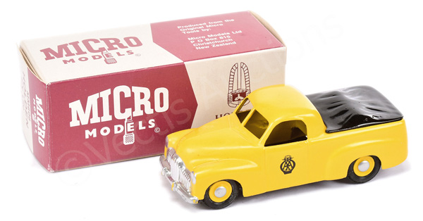 Micro Models MM606 Holden FX Utility in yellow