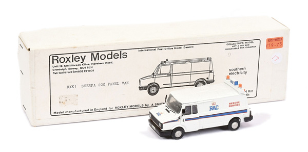Roxley Models white metal Sherpa 200 Panel Van