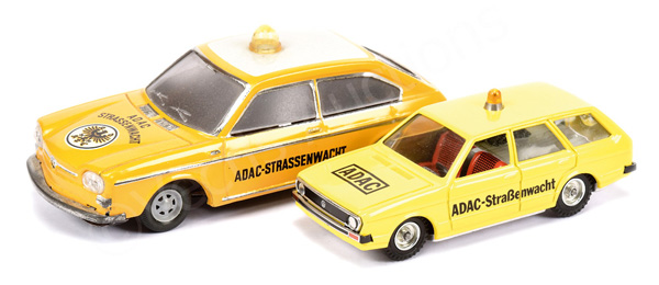 PAIR inc German tinplate Road Service Cars