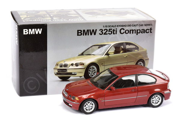 Kyosho (1/18th scale) BMW 325TI Compact - red