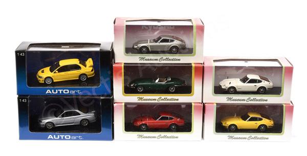 GRP inc Kyosho/Autoart Jaguar type E; Datsun
