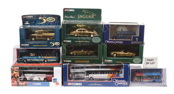GRP inc Corgi No.01805 gold plated Jaguar