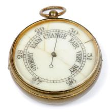 An antique pocket Barometer dating from the turn