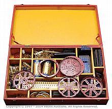 QTY inc Meccano Pre-War parts blue/gold hatched