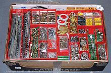 QTY inc Meccano loose parts in red, green