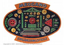 Meccano, a German card Advertising Sign oval