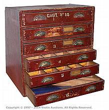 QTY inc Meccano Shop Display Cabinet wooden