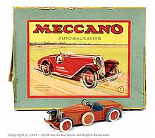 Meccano No.1 Constructor Car red/blue, in German