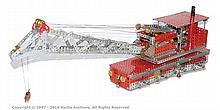 Meccano Model of a Railway Breakdown Crane