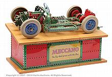 Meccano shop display model of a car chassis