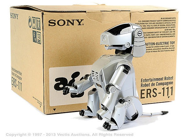 Sony Albo Robot Dog - grey plastic battery