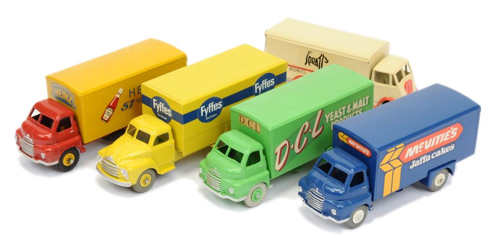 GRP inc Dinky Toys repainted Bedford and Guy