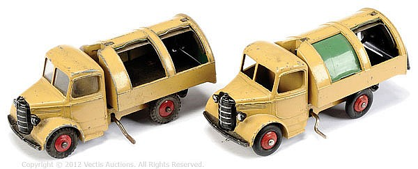 PAIR Dinky No.252 Bedford Refuse Wagon
