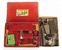 QTY inc Meccano Set No.6 (circa 1950) red/green