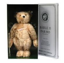 Steiff Barle 35PB replica 1905 Teddy Bear, white