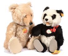 PAIR inc Steiff teddy bears: (1) Watch Teddy