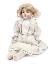 DEP bisque shoulder head doll, German, impressed