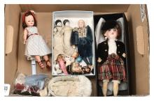 QTY inc Collection of dolls: (1) German bisque