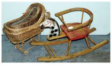 GRP inc Child's wooden rocking horse chair
