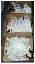 GRP inc Modern bisque dolls x eleven, includes