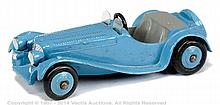 Dinky No.38F Jaguar SS - mid blue body, ridged