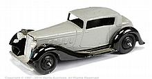 Dinky No.36D Rover - grey, black type 4 chassis