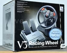 V3 Racing Wheel for use with the PlayStation