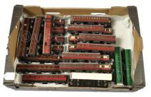 GRP inc Hornby Dublo 3-rail Coaches maroon