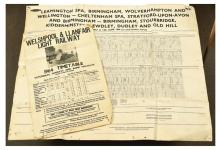 PAIR inc Railway timetable posters Welshpool