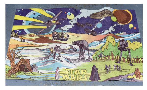 Reticel Sutcliffe Star Wars vintage playmat