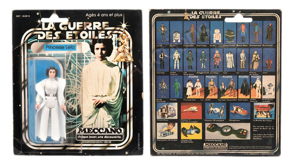 Meccano (France) Star Wars Princess Leia 3 3/4