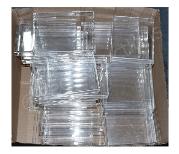 GRP inc Twenty-seven perspex cases, suitable