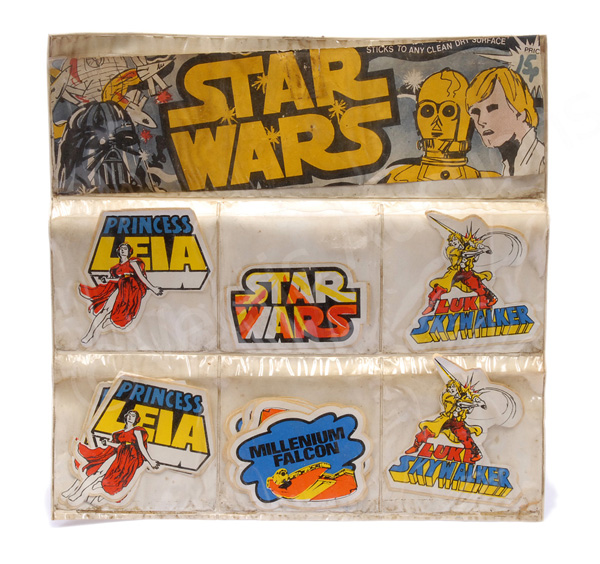 Star Wars vintage bootleg stickers, screen